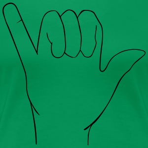 Hand sign - Women's Premium T-Shirt