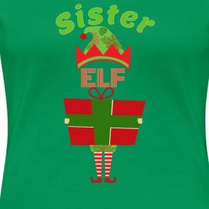 Funny Sister Elf Christmas Shirt - Women's Premium T-Shirt