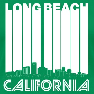 Retro Long Beach California Skyline - Women's Premium T-Shirt