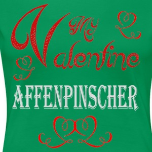 A romantic A romantic Valentine with my Affenpinsc - Women's Premium T-Shirt