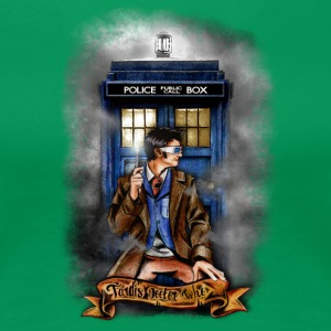 Doctor and Blue Phone Box - Women's Premium T-Shirt