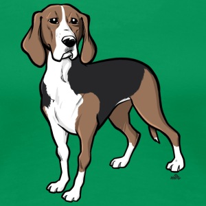 Finnish hound dog cartoon - Women's Premium T-Shirt