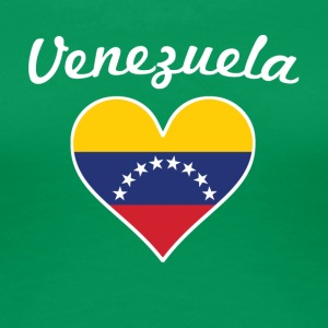 Venezuela Flag Heart - Women's Premium T-Shirt