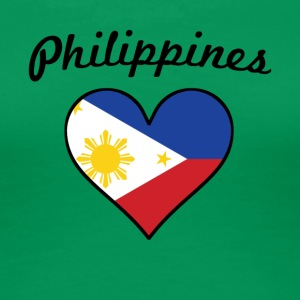 Philippines Flag Heart - Women's Premium T-Shirt