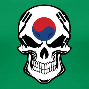 Korean Flag Skull - Women's Premium T-Shirt