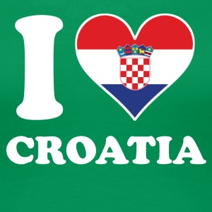 I Love Croatia Croatian Flag Heart - Women's Premium T-Shirt