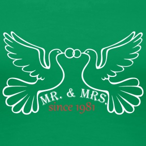 Mr And Mrs Since 1981 Married Marriage EngagementM - Women's Premium T-Shirt