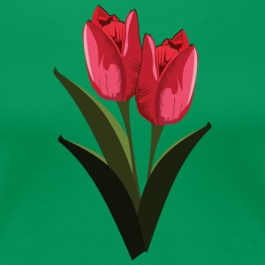 Red Tulips - Women's Premium T-Shirt