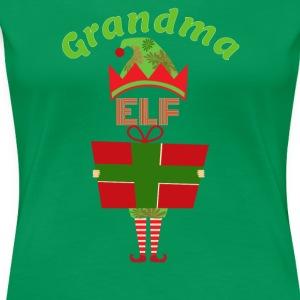 Funny Grandma Elf Christmas T-Shirt - Women's Premium T-Shirt