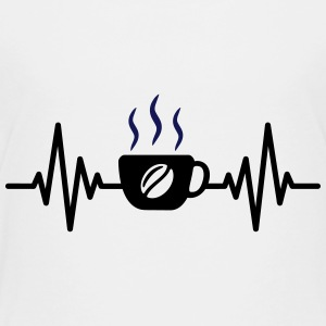 coffee heartbeat - Toddler Premium T-Shirt