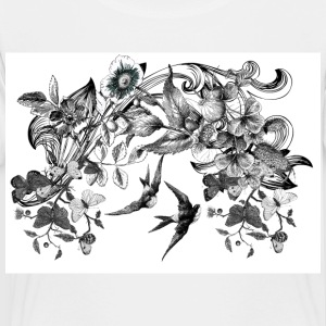 Vintage Floral and Birds - Toddler Premium T-Shirt