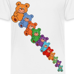 colorful teddy bears - Toddler Premium T-Shirt