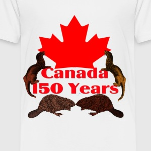 Canada 150 otter and beaver - Toddler Premium T-Shirt