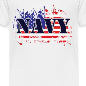 Navy and Flag - Toddler Premium T-Shirt