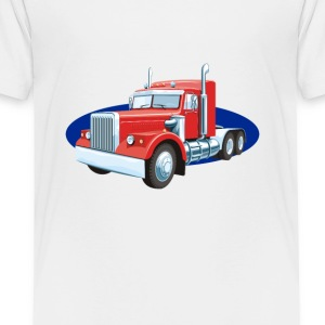 truck lorry car wagon street road - Toddler Premium T-Shirt