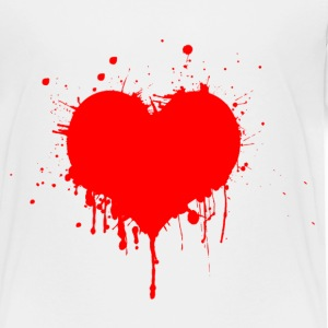 Painted Art Heart - Toddler Premium T-Shirt