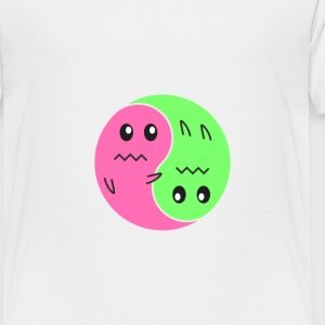 Ying And Yang Ghosts - Toddler Premium T-Shirt
