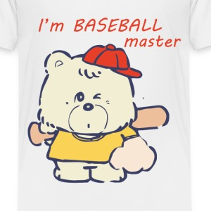 I'am Baseball master - Cute Bear - Toddler Premium T-Shirt