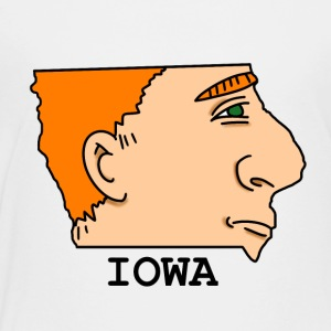 A funny map of Iowa 2 - Toddler Premium T-Shirt