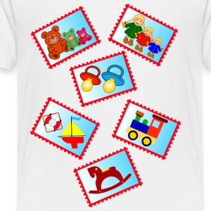 stamps with toys - Toddler Premium T-Shirt