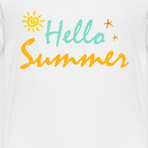HELLO SUMMER - Toddler Premium T-Shirt