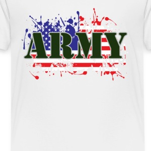 ARMY & FLAG - Toddler Premium T-Shirt