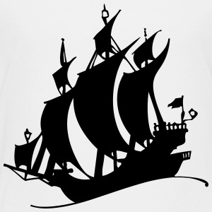 Pirate ship silhuette - Toddler Premium T-Shirt