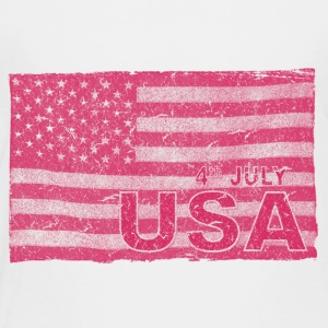 4th July American Flag Independence Day vintage - Toddler Premium T-Shirt