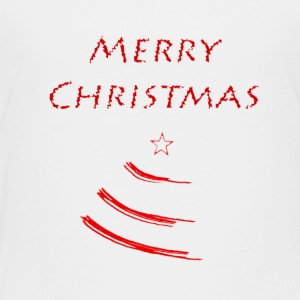 Merry Christmas with a Christmas Tree - Toddler Premium T-Shirt