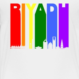 Riyadh Skyline Rainbow LGBT Gay Pride - Toddler Premium T-Shirt