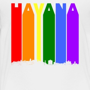Havana Cuba Skyline Rainbow LGBT Gay Pride - Toddler Premium T-Shirt