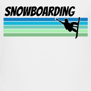 Retro Snowboarding - Toddler Premium T-Shirt