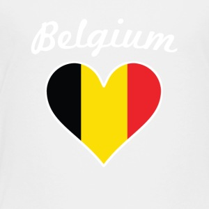 Belgium Flag Heart - Toddler Premium T-Shirt