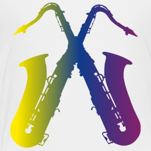 two colorful saxophones - Toddler Premium T-Shirt