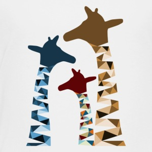 Abstract Colored Giraffe Family - Toddler Premium T-Shirt