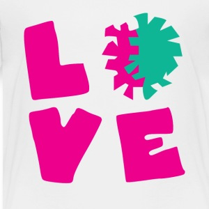 Love Cheer Cute Cheerleading Tee Shirt - Toddler Premium T-Shirt
