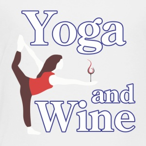 yoga and wine - Toddler Premium T-Shirt
