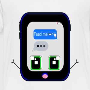 iPhone Feed Me (blue) - Toddler Premium T-Shirt