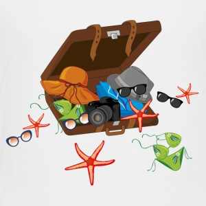 Summer vacation suitcase - Toddler Premium T-Shirt