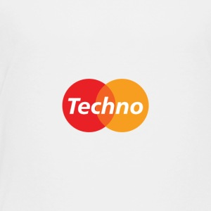 Tri Colored Techno Cricles - Toddler Premium T-Shirt