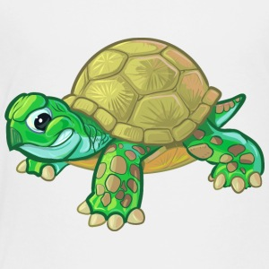 cute-tough-cartoon-baby-turtle-tortoise - Toddler Premium T-Shirt