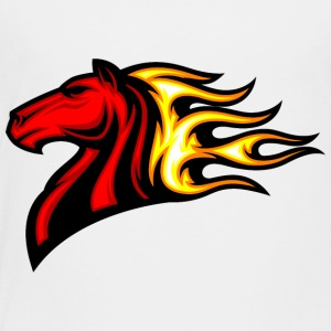 red_horse_in_fire - Toddler Premium T-Shirt