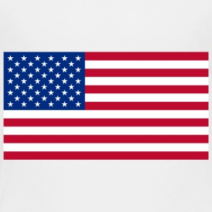Large size USA Flag - Toddler Premium T-Shirt