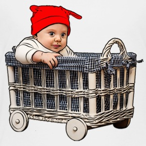 adorable beautiful baby boy in a basket - Toddler Premium T-Shirt