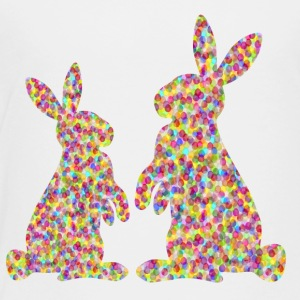 two easte rabbits / easter bunnies - Toddler Premium T-Shirt
