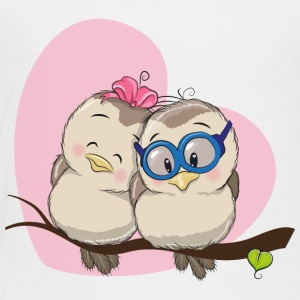 Birds couple in love heart romantic - Toddler Premium T-Shirt