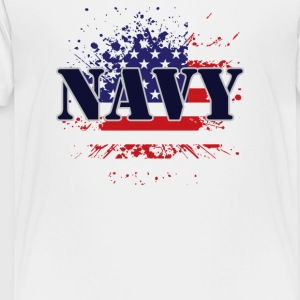 NAVY & FLAG - Toddler Premium T-Shirt