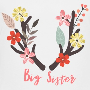 Big Sister Antler - Toddler Premium T-Shirt