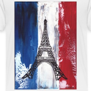 Grunge Paris flag and Eiffel tower - Toddler Premium T-Shirt