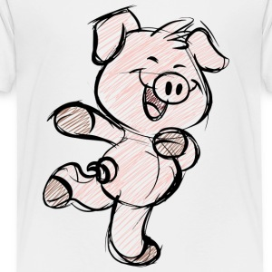 pig funny hearts love animals and pets - Toddler Premium T-Shirt